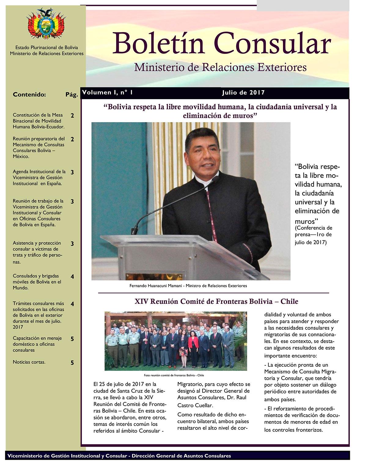 Boletines consulares ministerio de relaciones exteriores for Oposiciones ministerio de exteriores